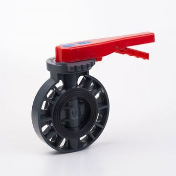 PVC-U Butterfly Valve with EPDM Seals Stainless Steel Shaft